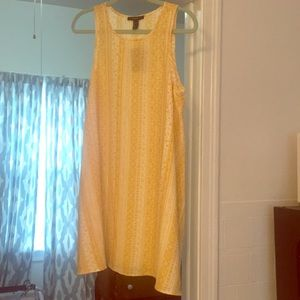 NEVER WORN NEW WITH TAGS Yellow printed sundress
